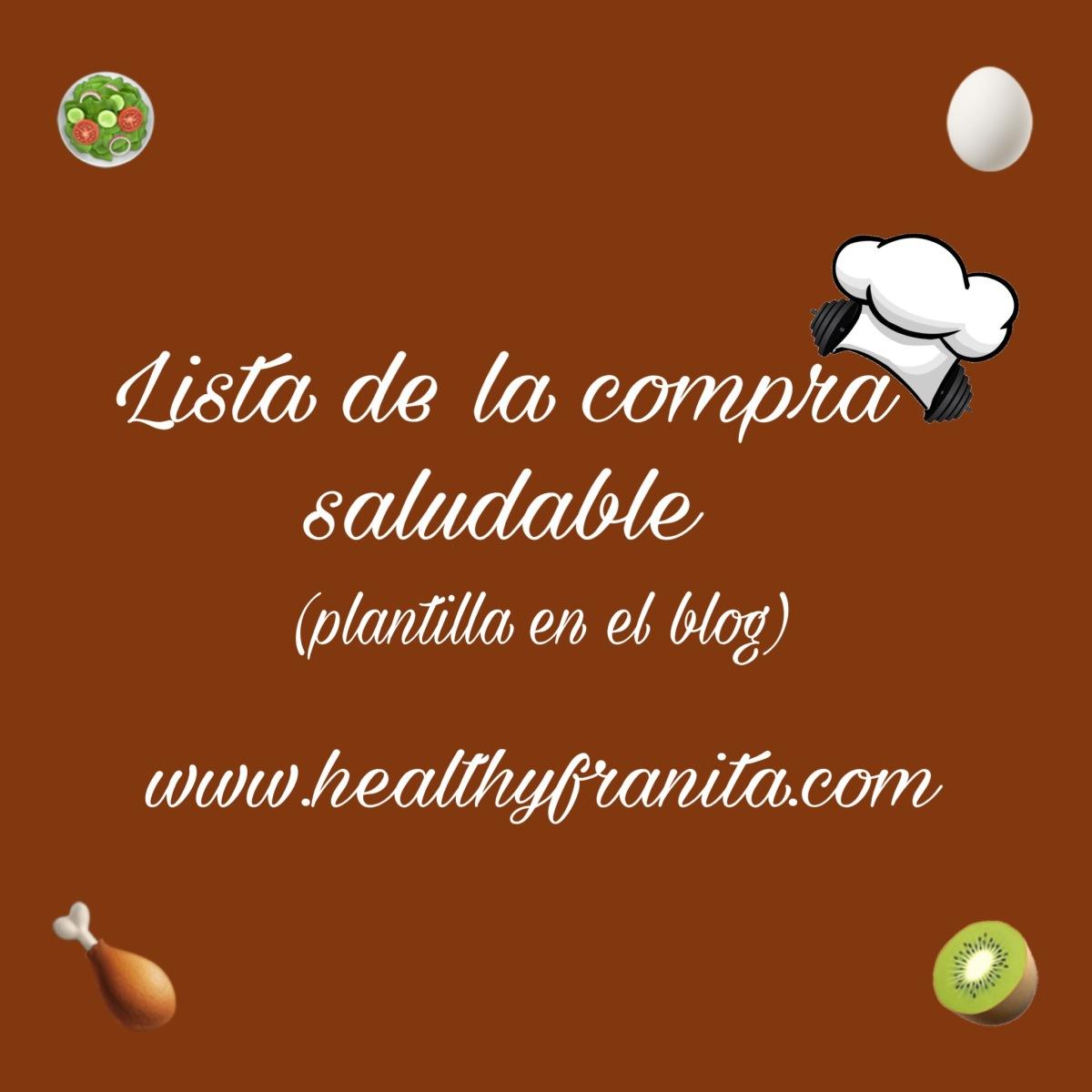 LISTA DE LA COMPRA SALUDABLE (plantilla)