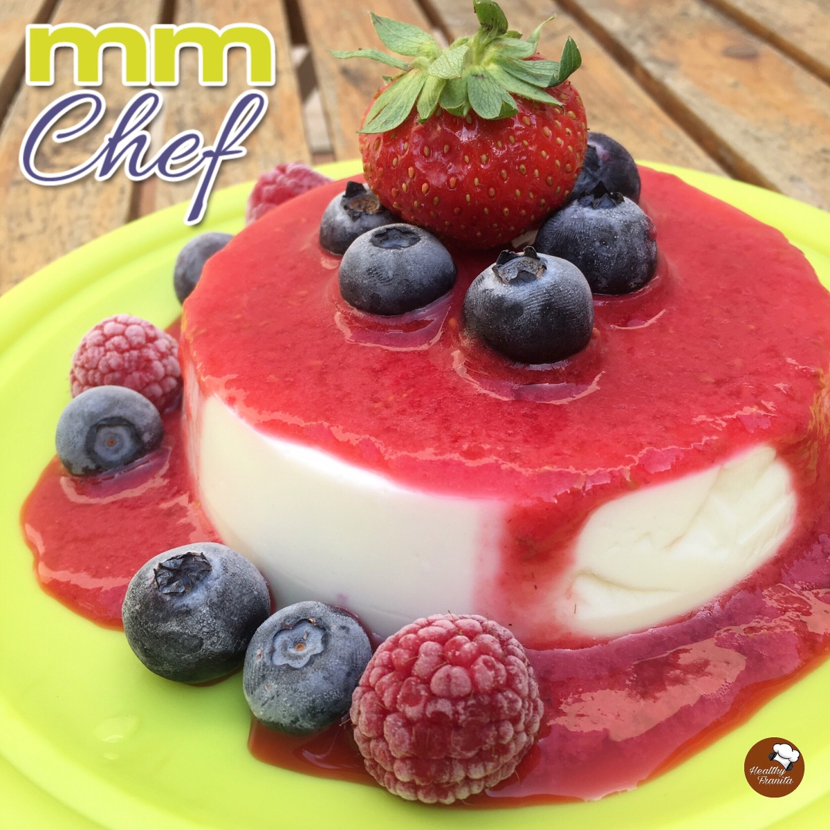 PANNA COTTA SALUDABLE DE FRUTOS ROJOS